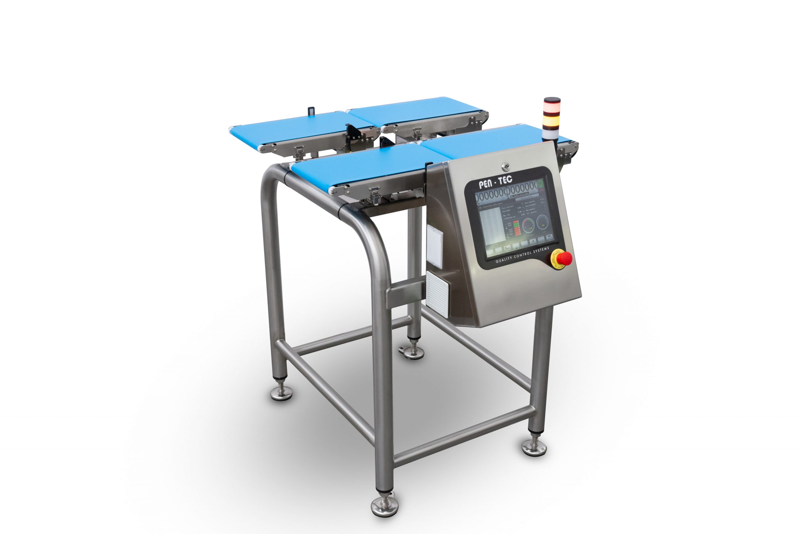Multi-lane checkweigher for unpacked products
