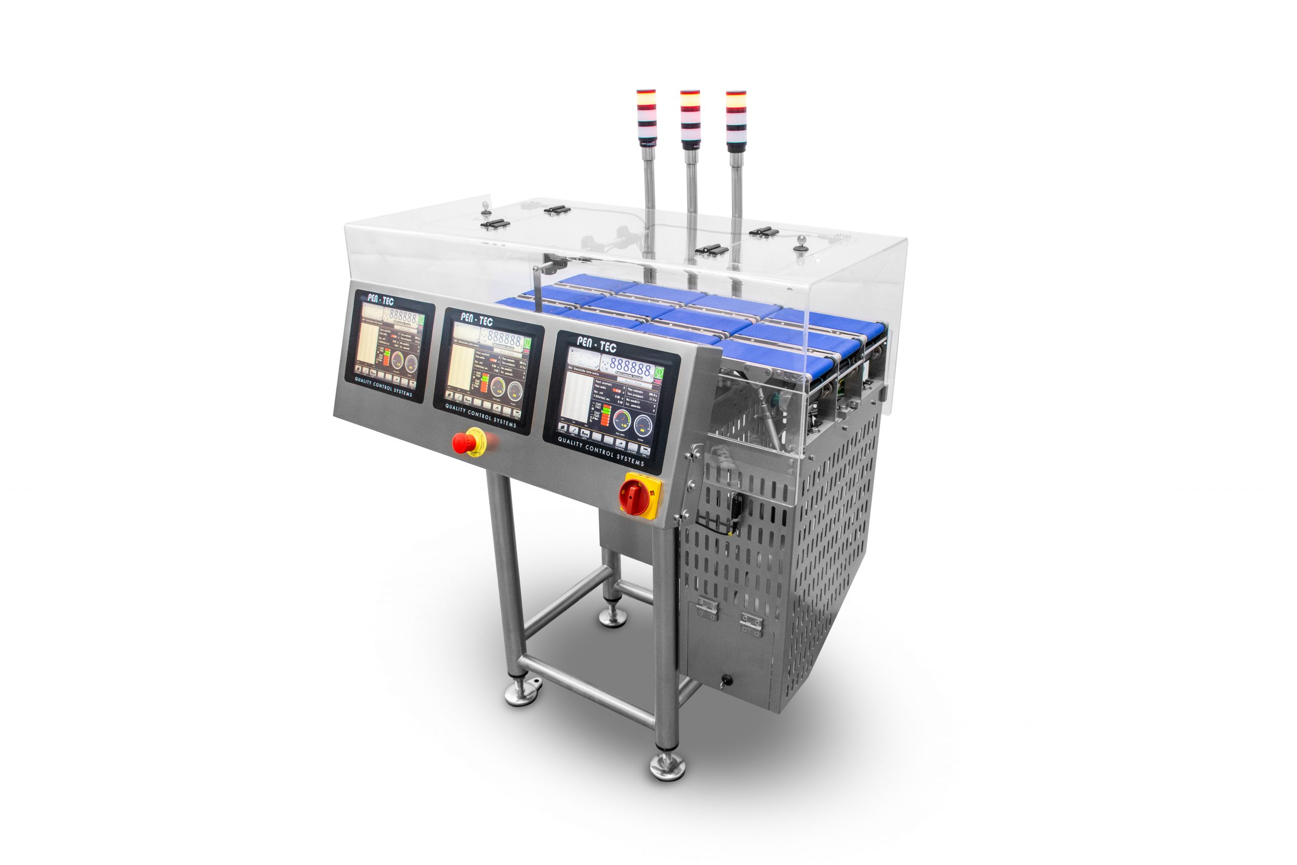 Multi-lane Checkweigher for packaged products